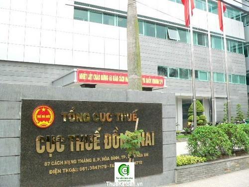 Cục thuế Đồng Nai - hóa đơn gtgt